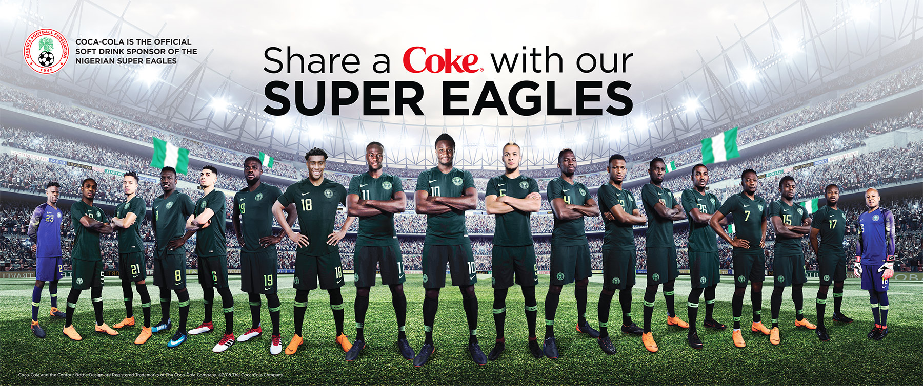 Good Boy Wolf Photographer, filmic portrait, Nigerian football team posing for cocacola