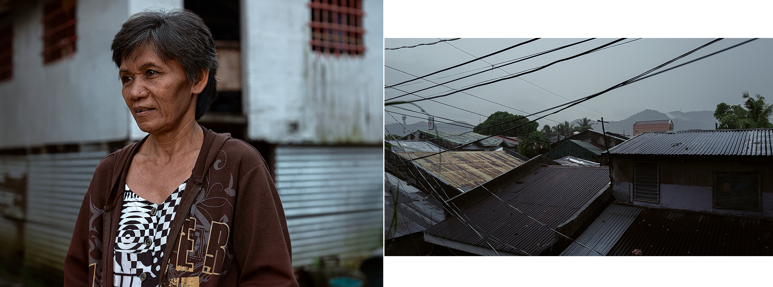 Good Boy Wolf Photographer, Philippines, woman in poverty wearing brown jumper