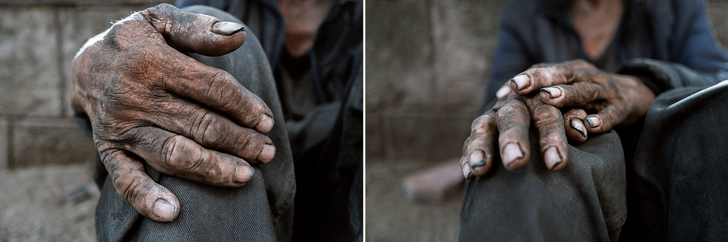 Good Boy Wolf Photographer, Philippines, homeless manilla mans hands all dirty
