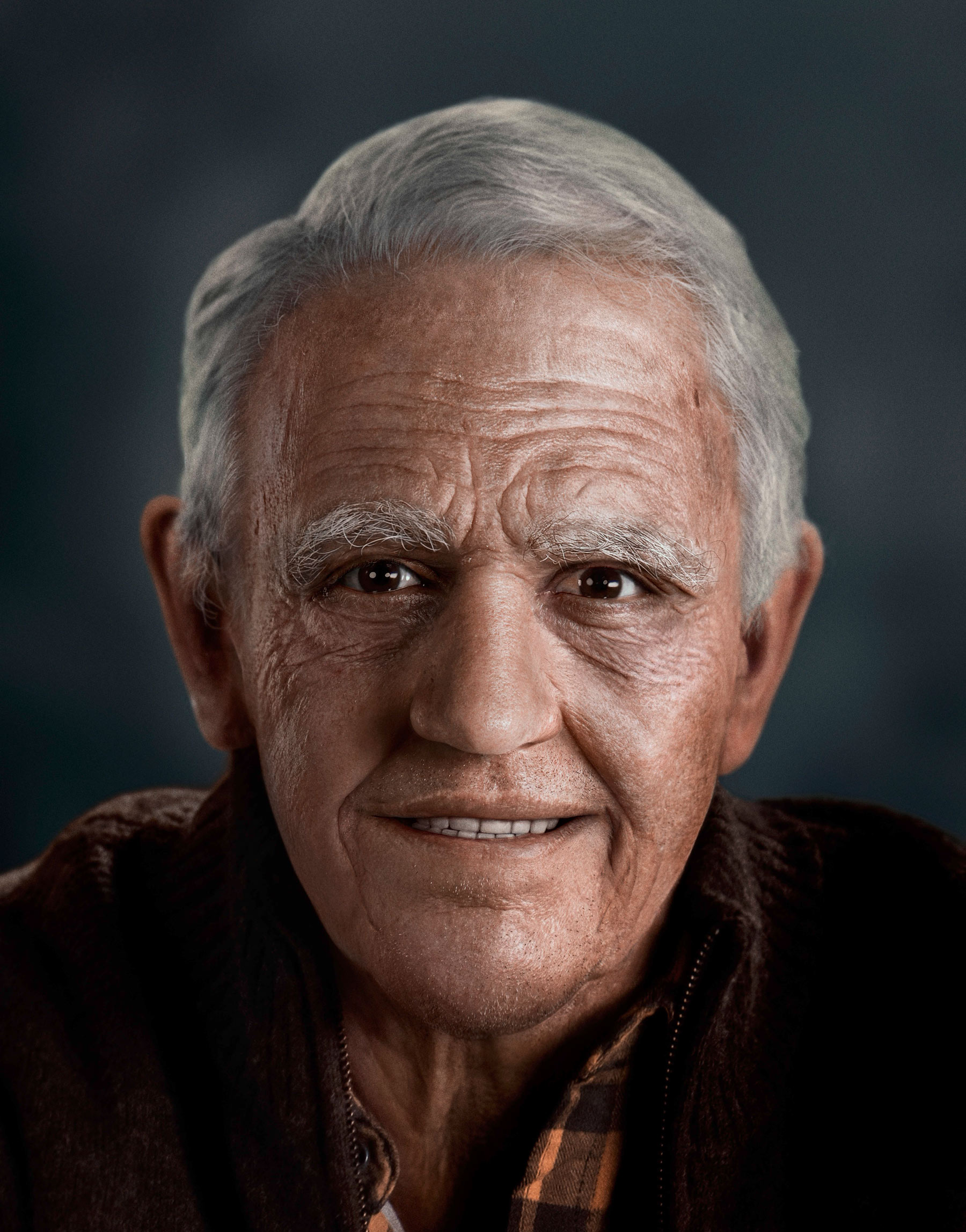 Good Boy Wolf Photographer, filmic portrait, Alexis Sanchez as a old man