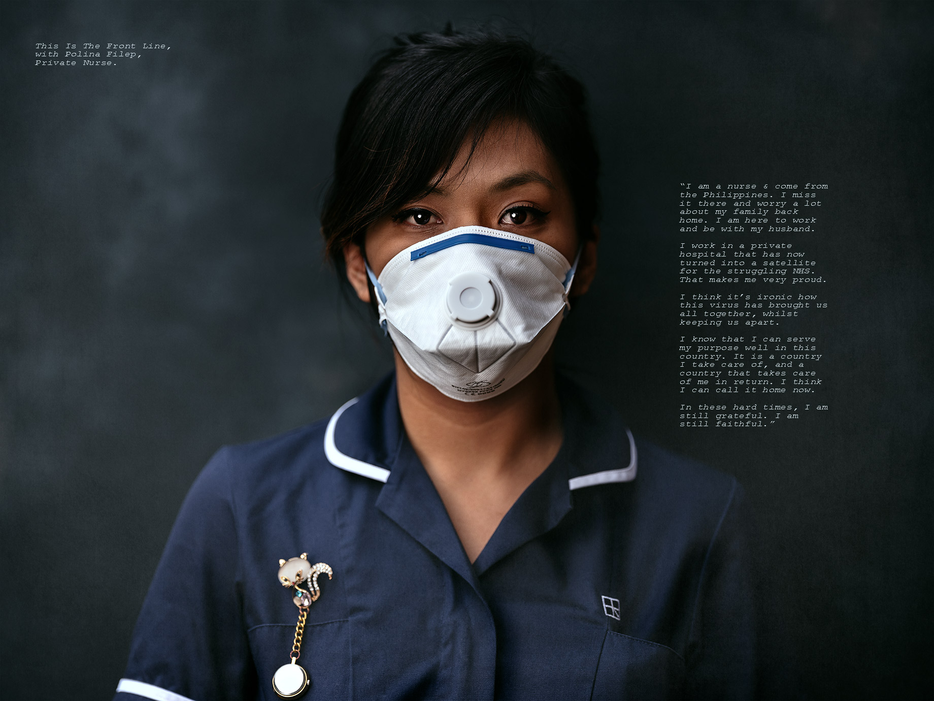 "Goodboywolf Photographer, nurse wearing mask for corona virus"">"