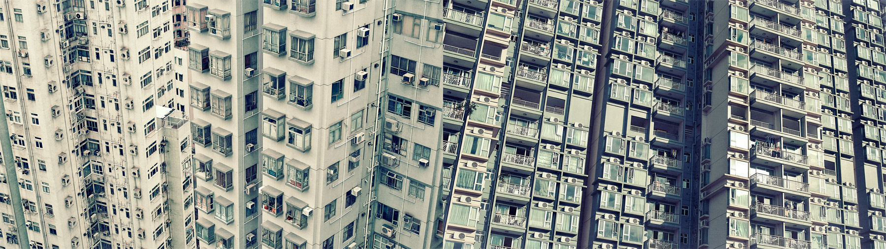 Good Boy Wolf Photographer, filmic landscape,  tall sky raise apartments in hong kong