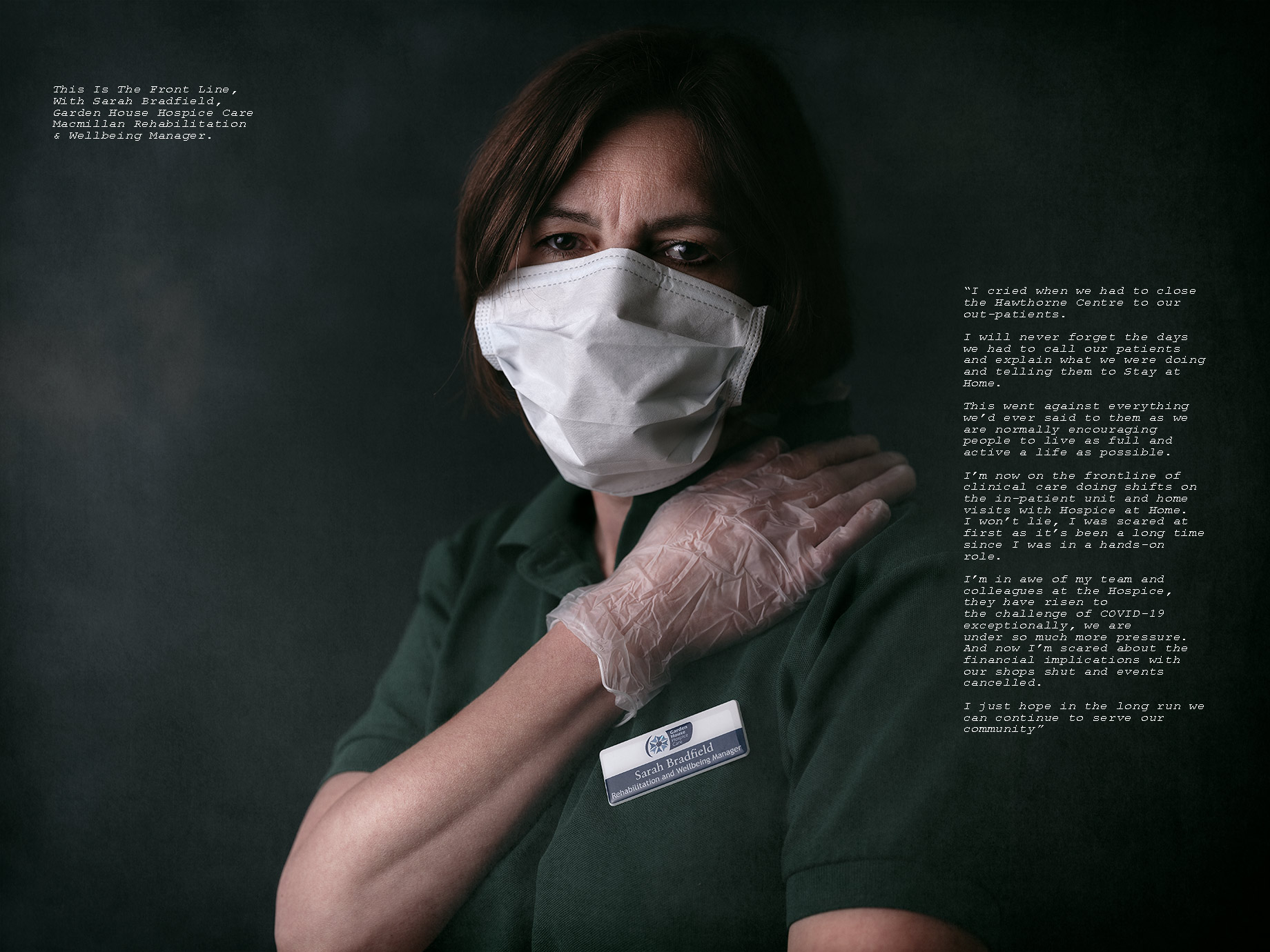 Good Boy Wolf_Nurse wearing mask and gloves, Good Boy Wolf Photographer