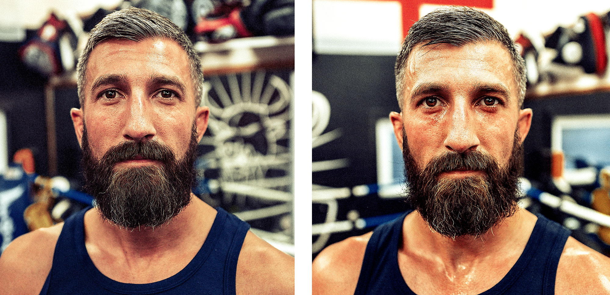 Good Boy Wolf Photographer, Thai kick boxing, before and after a kickboxing session
